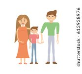 happy family love members | Shutterstock .eps vector #612928976