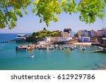 tenby harbour   tenby  ... | Shutterstock . vector #612929786