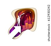 business opportunities concept... | Shutterstock .eps vector #612930242