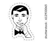 portrait man facial expression... | Shutterstock .eps vector #612933065