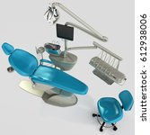 model of modern dental chair.... | Shutterstock . vector #612938006