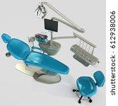 model of modern dental chair.... | Shutterstock . vector #612938006