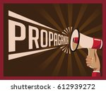 retro propaganda poster for... | Shutterstock .eps vector #612939272