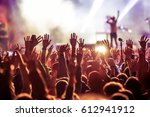 crowd at concert   summer music ... | Shutterstock . vector #612941912