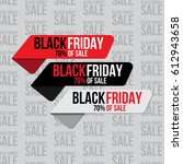 set of stickers for black... | Shutterstock .eps vector #612943658
