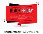 black friday sale banner | Shutterstock .eps vector #612943676