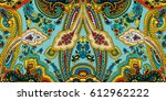 traditional  paisley pattern.... | Shutterstock .eps vector #612962222