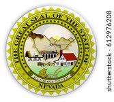 badge us state seal nevada  3d...   Shutterstock . vector #612976208