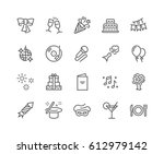 simple set of party related... | Shutterstock .eps vector #612979142