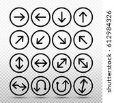arrow icon set isolated sign... | Shutterstock .eps vector #612984326