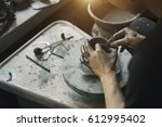 craftsman artist making craft ... | Shutterstock . vector #612995402