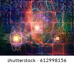 number domain series.... | Shutterstock . vector #612998156