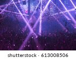 light show and silhouette hands ... | Shutterstock . vector #613008506