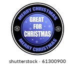 Label with the text Great for Christmas inside, vector illustration - stock vector