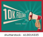 thank you for following...   Shutterstock .eps vector #613014335