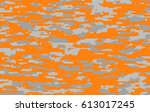 digital camo with orange... | Shutterstock . vector #613017245