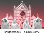 priestess and sorcerers they... | Shutterstock . vector #613018892