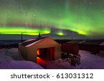aurora  incredible nature light ... | Shutterstock . vector #613031312