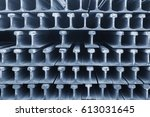section of rail for trackwork... | Shutterstock . vector #613031645