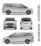 passenger realistic van vector... | Shutterstock .eps vector #613034282