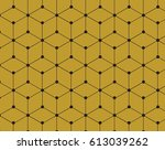 Gold Cube Geometric With Black...