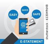 mobile applications e statement.   Shutterstock .eps vector #613049648