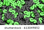 black and green dollar signs... | Shutterstock . vector #613049852