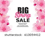 spring sale banner with... | Shutterstock .eps vector #613054412