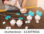 masterclass of preparing...   Shutterstock . vector #613059836