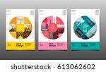 poster   flyer template  circle ... | Shutterstock .eps vector #613062602
