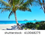 hawaii lanikai beach | Shutterstock . vector #613068275