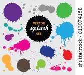 vector paint splashes... | Shutterstock .eps vector #613074158