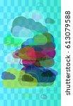 smoke template idea   Shutterstock .eps vector #613079588