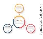 circle infographic template... | Shutterstock .eps vector #613081742