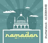 ramadan kareem logo vector... | Shutterstock .eps vector #613084448