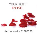 Stock photo rose petals border 61308925