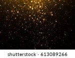 abstract gold bokeh with black... | Shutterstock . vector #613089266