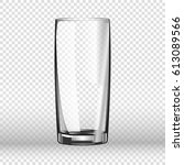 realistic long drinking glass... | Shutterstock .eps vector #613089566