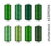 thread spool set. bright... | Shutterstock . vector #613090346