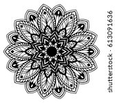 mandalas for coloring book.... | Shutterstock .eps vector #613091636