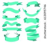 vector set of  different... | Shutterstock .eps vector #613095746