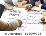 climate change ecology... | Shutterstock . vector #613099715