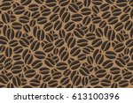 coffee. abstract coffee beans... | Shutterstock .eps vector #613100396