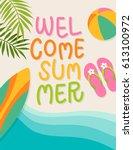summer holidays illustration...   Shutterstock .eps vector #613100972