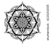 mandalas for coloring book.... | Shutterstock .eps vector #613101035