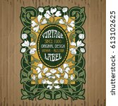 vector vintage items  label art ...   Shutterstock .eps vector #613102625