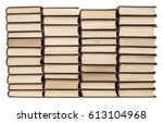 stacks of old books with... | Shutterstock . vector #613104968