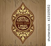 vector vintage items  label art ... | Shutterstock .eps vector #613105052