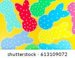close up of colorful paper... | Shutterstock . vector #613109072