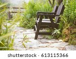 wooden chairs in the park | Shutterstock . vector #613115366